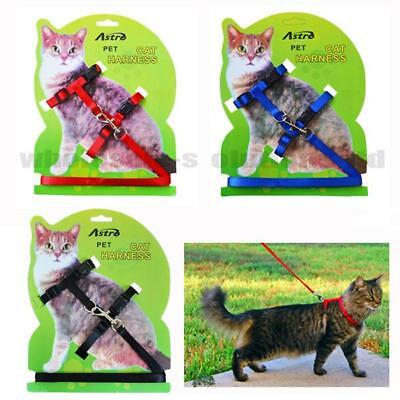 Cat Kitten Adjustable Harness Collar Durable Animal Walking Lead Pet Rabbit