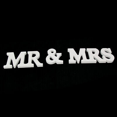 BN White Wooden Mr&Mrs Letters Wedding Decoration Sign Table Photo