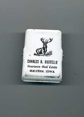 Charles Costello Insurance - Real Estate Elk Metal Paper Clip From Malvern Iowa