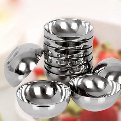 Kitchen Stainless Steel Aid Kid Baby Safety Bowl Anti-Rust Smooth Edge Resistant