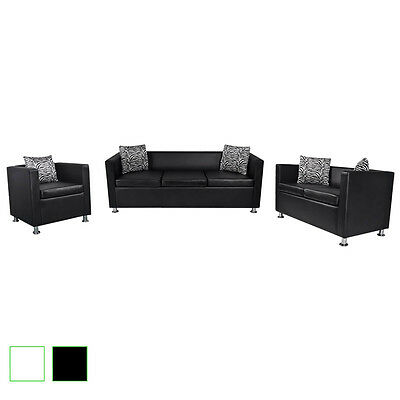 Sofa Set 3-Sitzer + 2-Sitzer Loungesofa Couch mit Armsessel Relaxsessel Armsofa