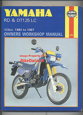 Haynes Yamaha DT125LC,RD125LC (1982-1987) Shop Manual RD125,DT125,RD/DT 125 LC