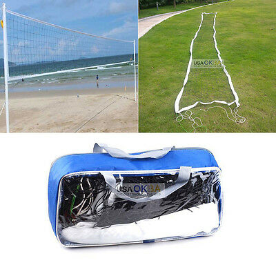 32x3 FT Official Size Volleyball Net Outdoor Indoor Beach Match Sprots Training