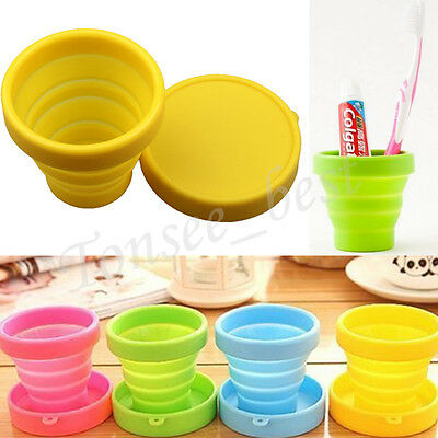 Portable Silicone Telescopic Drinking Collapsible Folding Cup Travel Camping Hot