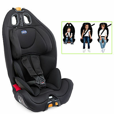 Chicco Black Gro - Up Group 123 Baby Car Seat Reclining Childs Booster Carseat