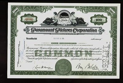 Hollywood : PARAMOUNT PICTURES CORPORATION 1961 issued to Bucher & Co