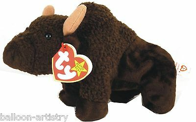 Ty Beanie Baby Roam the Buffalo Retired DOB September 27th 1998 soft toy