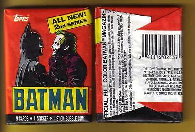 1989 Topps Batman Wax Pack Series 2 (x1) Fresh from Box!
