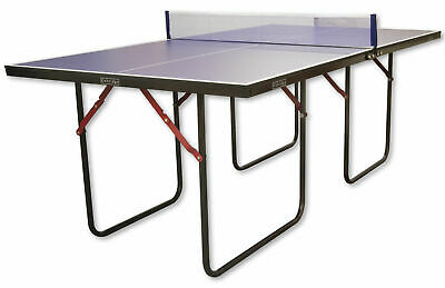 Blue Junior 3/4 Size Folding Ping Pong Table Tennis Table With Bats By Oxbridge