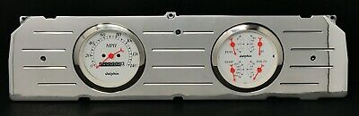 1964 1965 1966 Chevy Truck 3 3/8 Quad Gauge Cluster White