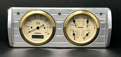 1940 Ford Car Quad Gauge Cluster Gold