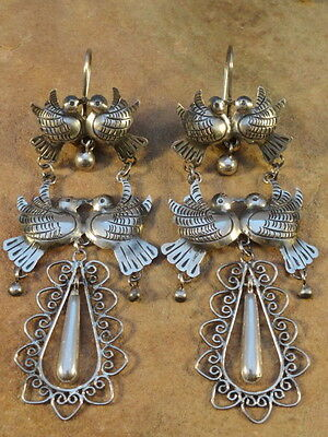 Mexican Mexico Sterling Silver Frida Earrings