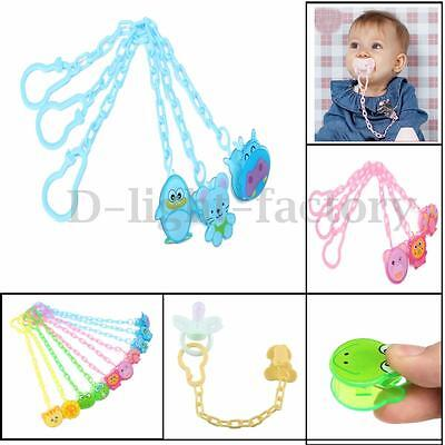Cartoon Baby Dummy Pacifier Soother Nipple Chain Clip Buckle Holder Dummy Holder