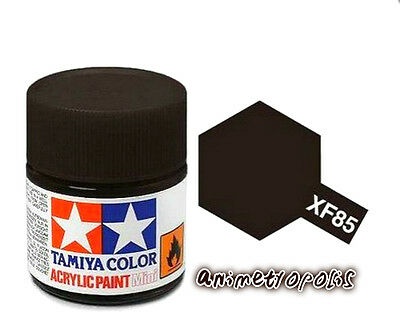TAMIYA COLOR XF-85 Rubber Black Model ACRYLIC PAINT 10ml New Free Shipping