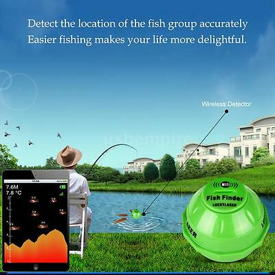 125KHz Smart Sonar Wireless Wi-Fi Fishfinder 50M Depth Fish Finder Detector Z5C9