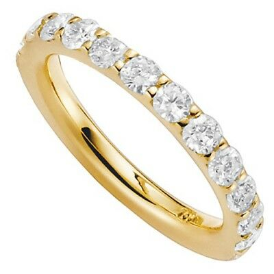 Women's ring Halbmemory - 12 Diamonds Brilliants 750 Gold Yellow