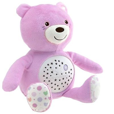 New Chicco Pink Baby Bear Nursery Projector Baby Musical Nightlight
