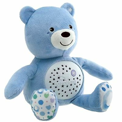 New Chicco Blue Baby Bear Nursery Projector Baby Musical Nightlight