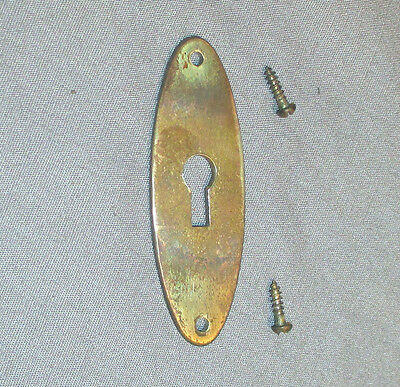 Antique Singer Open Side Treadle Sewing Machine Cabinet Key Hole Brass Plate