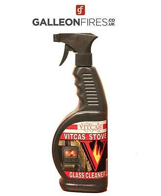 Vitcas Stove Glass Cleaner 650ml For Stoves and Oven Glass Stoves 30% Extra FREE