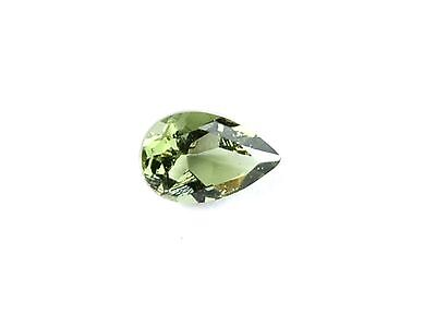 0.32cts drop/pear 4x6mm moldavite faceted cutted gem BRUS1409