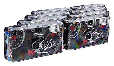 TopShot Love Disposable Camera 27 Photos Flash 8 Pack Black