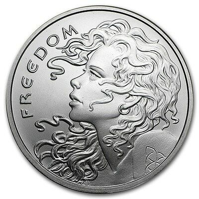 1 oz 999 Münze / Medaille Freedom Girl Silber Silver Shield AG Round 2019