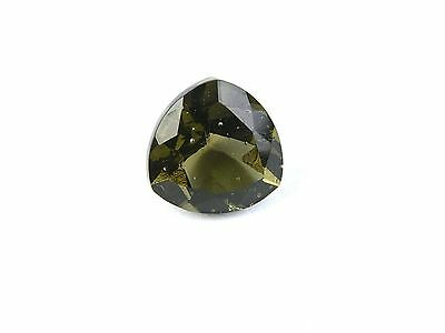 2.12cts trill 9x9mm STANDART CUT moldavite faceted cutted gem BRUS1422