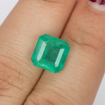 Cadingems 4.01Ct Natural Green Emerald 9.95X9.76Mm For Jewelry Brazil