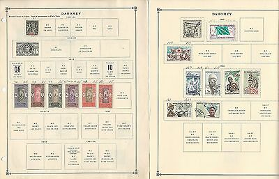 Benin & Dahomy Collection 1901 to 1991 on Scott International Pages