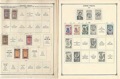Burkina Faso, Upper Volta Collection 1920 to 1993 on Scott International Pages