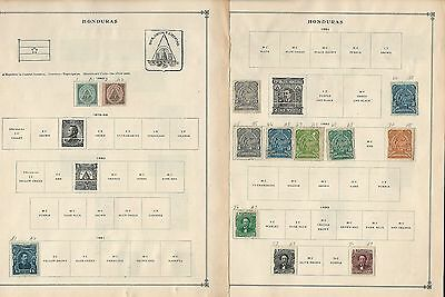 Honduras Collection 1865 to 1992 on Scott International Pages