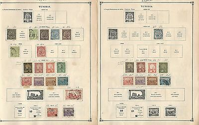 Tunisia Collection 1888 to 1992 on Scott International Pages