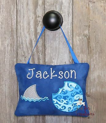 Boy Personalized Tooth Fairy Pillow Shark Fin