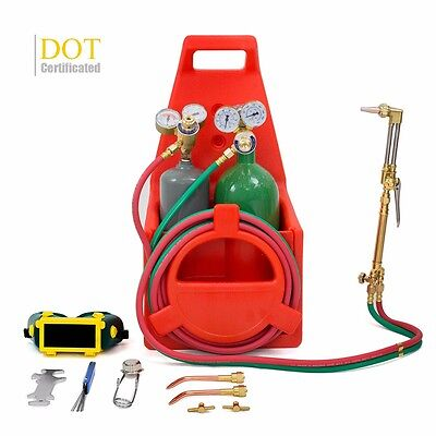 DOT Certificated Tote Oxygen Acetylene Oxy Welding Cutting Torch Kit Victor