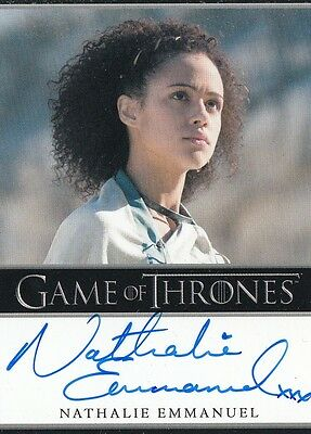 Game Of Thrones Season 5 - Nathalie Emmanuel (Missandei) Autograph Card B L