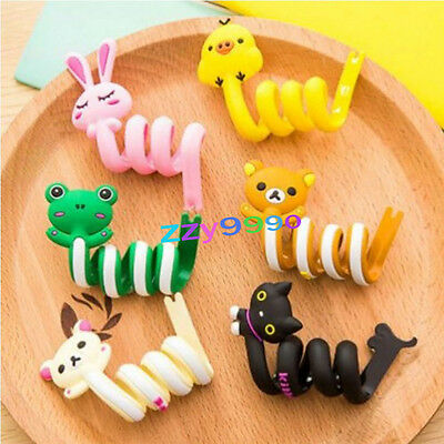 5 Animal Silicon Earphone Headphone Wrap Cord Wire Cable Holder Winder Organizer