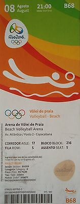 TICKET 8.8.2016 Olympia Rio Brasilien Beachvolleyball # B68