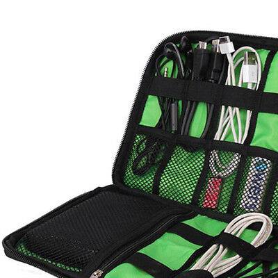 Travel Electronic Accessories Cable USB Drive Organizer Case Portable Insert Bag