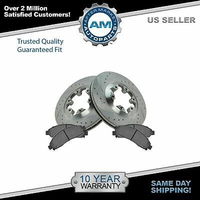 Nakamoto Disc Brake Rotor Drilled & Slotted Zinc Coated & Posi Ceramic Pad Set