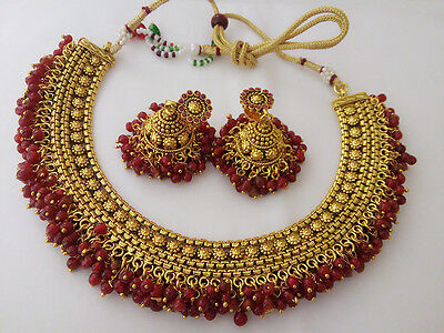 Indian Fashion jewelry chandani Necklace set bollywood gold plated ethnic set