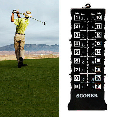 18 Hole Golf Stroke Shot Putt Scoring Keeper Score Counter with Clip Chain