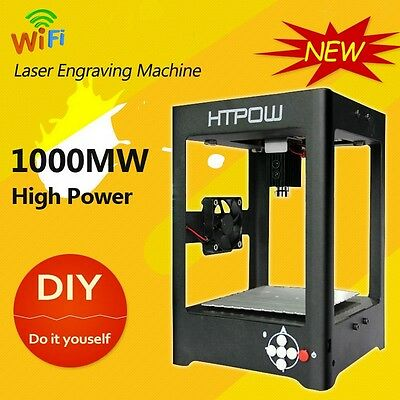 HTPOW WIFI 1000mW DIY Laser Printer Engrave Carving Machine Fr Android Phone/PC