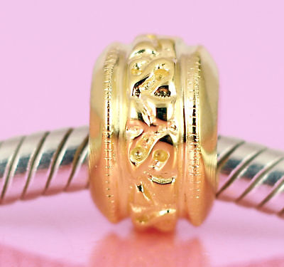 Vermeil GOLD Solid Sterling Silver * SPACER BEAD * For Charm Bracelet / Necklace