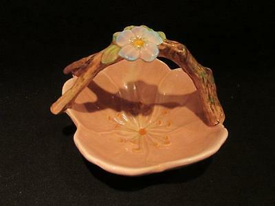 Beautiful Vintage Flower Shaped Dish with Branch & Flower Handle Made in England