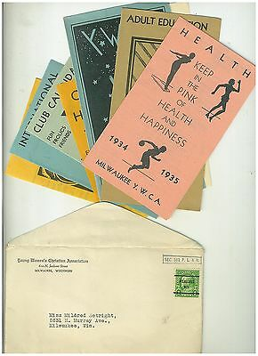 Group of 8 1930s YWCA Pamphlets and information sheets in envelope