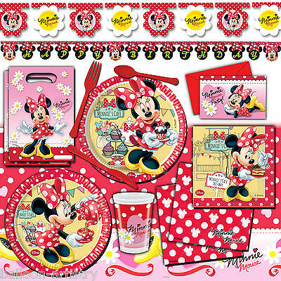 Disney Minnie Mouse Red Polka Dot DELUXE VALUE Birthday Party Pack Kit 16 Guests