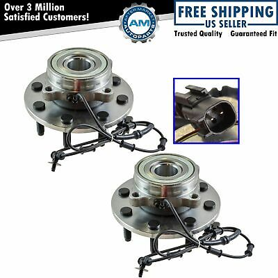 TRQ Front Wheel Hub & Bearing Pair for Dodge Ram 1500 2500 3500 4x4 4WD