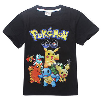 New Pokemon GO Kid Boys Toddlers Cute Pikachu Charmander Tops T Shirt Casual Tee