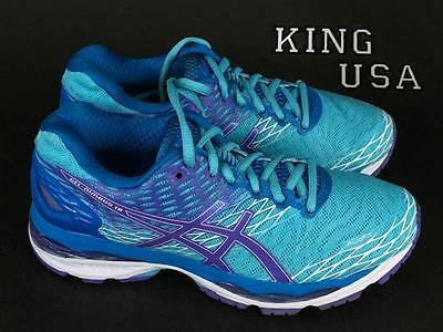 Women's Asics GEL-Nimbus 18 Running Athletic Cross Training Shoes Turquoise Iris